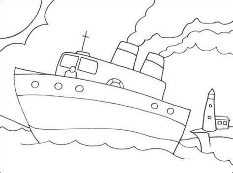 okul oencesi gemi boyama sayfalari okul oencesi etkinlik