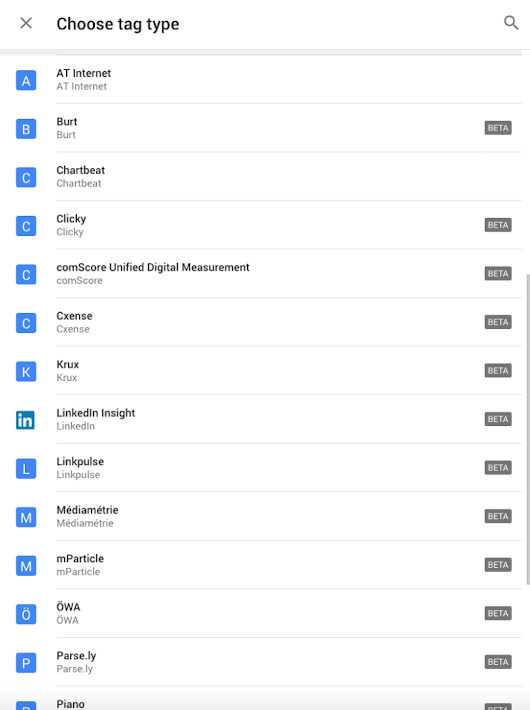 Google Tag Manager prepares support for more digital analytics providers