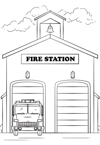 Fire Station Clipart : station, clipart, Station, Drawing, Images