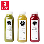 Pressed Juicery's Cold-Pressed Greens, Roots & Citrus Bundle-12 fl. oz, 9-Count