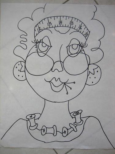 Gloria - the drawing