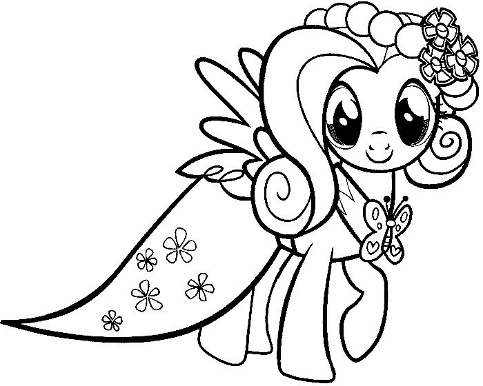 My Little Pony Coloring Pages Baby Rarity Crazywidowinfo