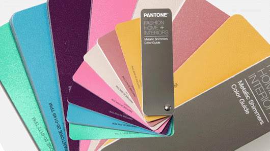 Pantone metallic shimmer colors celebrate the iPhone effect