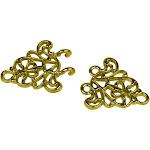 Evelots Sew-On Gold Filigree Cloak Clasp-Clip-Sweater-Collar-Blouse-Cardigan