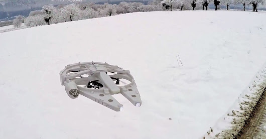 This Millennium Falcon is the drone you've been looking for