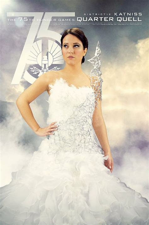 Katniss Everdeen Mockingjay Wedding Interview Dress