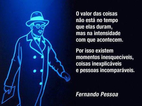 Fernando Pessoa No Facebook O Valor Das Coisas Não Está No Tempo