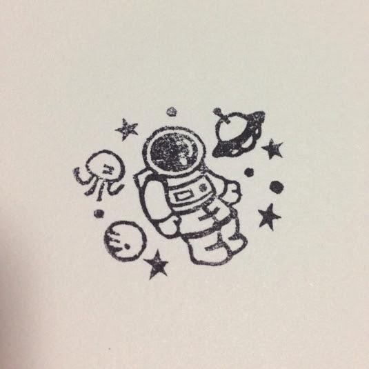 再販宇宙飛行士さん②はんこ ハンドメイドマーケット Minne