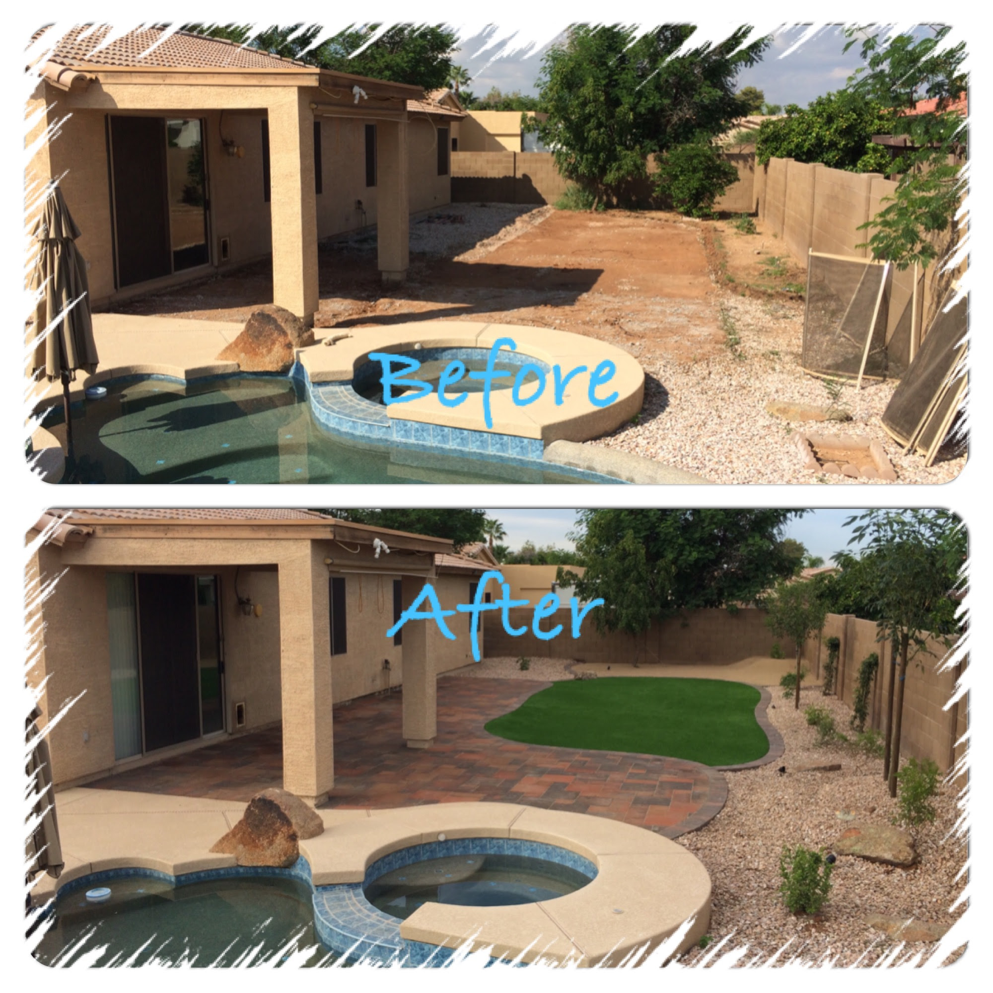 Backyard Landscape Design Arizona Living Landscape