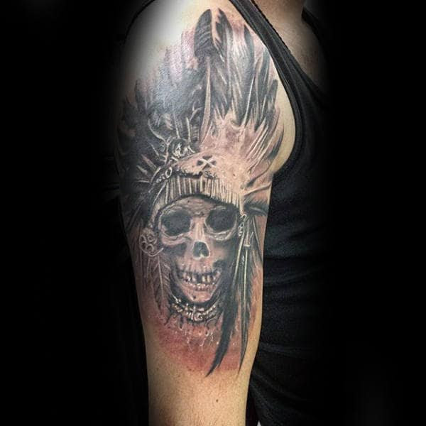 80 Indian Skull Tattoo Designs For Men Cool Ink Ideas