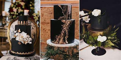 10 Brilliant Matter Black Wedding Cake Ideas for 2018