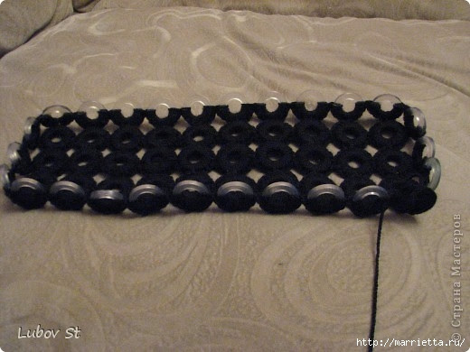 Handbag of the rings with beads.  Crochet without interrupting the thread (9) (520x390, 119Kb)