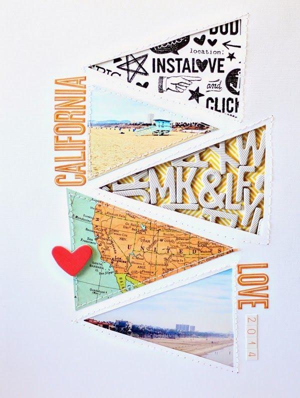 #papercraft #scrapbook #layout Sunday Scrapper - Mandy Koeppen
