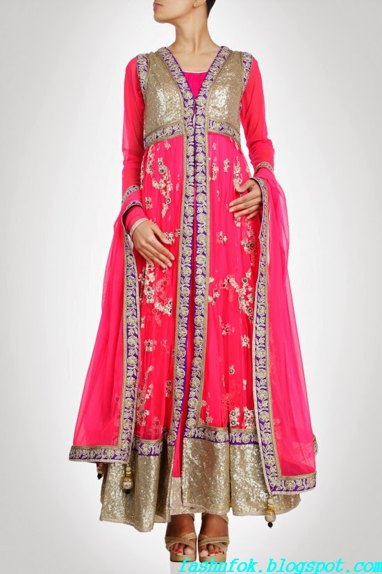 Anarkali-Gorgeous-Bridal- Wedding-Ankle-Length-Dress-by-Designer-Kiran-&-Shruti-Aksh-2