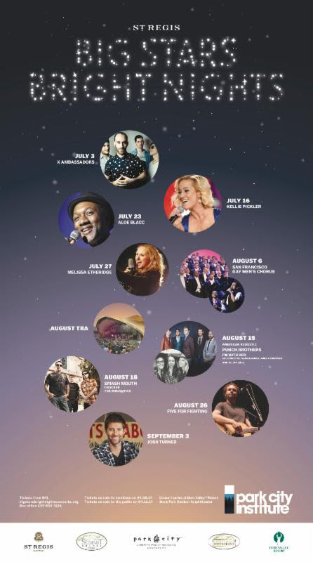St. Regis Big Stars Bright Nights Summer Concerts Announced!