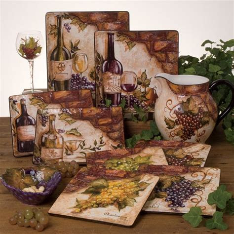 kitchen decor themes fruits click     wine