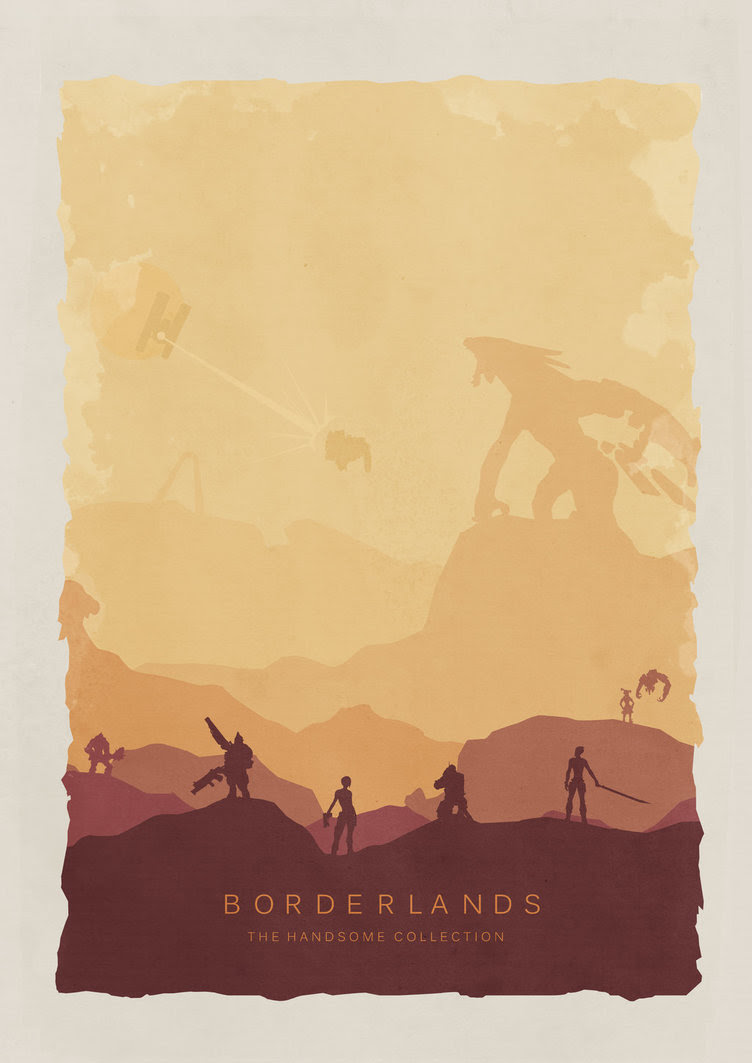 Borderlands The Handsome Collection Poster by LandLCreations