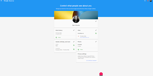 Google's new 'About me' tool quickly shows what personal data you're sharing
