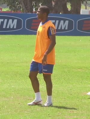 Junior Cesar no treino do Flamengo (Foto: Richard Fausto/GLOBOESPORTE.COM)