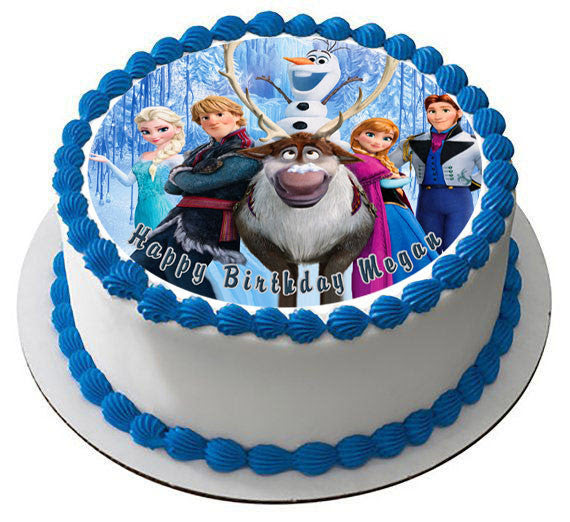 Frozen 5 Edible Birthday Cake Or Cupcake Topper Edible Prints On