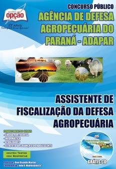 Agência de Defesa Agropecuária do Paraná (ADAPAR)-ASSISTENTE DE FISCALIZAÇÃO DA DEFESA AGROPECUÁRIA