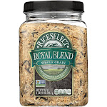 Rice Select Royal Blend Rice - Whole Grain and Brown - 28 Ounce -PACK 4