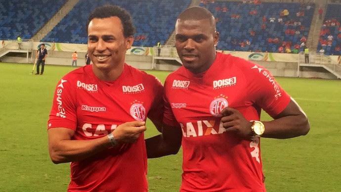 Julinho e Gilmar - reforços do América-RN (Foto: Klênyo Galvão/GloboEsporte.com)