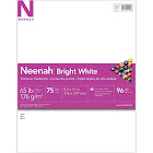 """Neenah Card Stock, Specialty, Bright White, 8.5"""" x 11"""" - 75 count"""