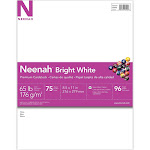 "Neenah Card Stock, Specialty, Bright White, 8.5"" x 11"" - 75 count"