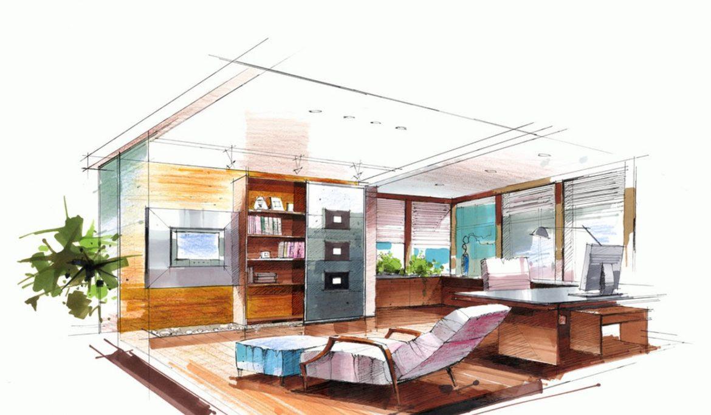 Interior Design Sketches on Pinterest | Interior Sketch ...