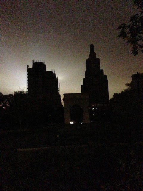 October 30 Hurricane Sandy, lights out in Lower Manhattan