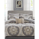 Madison Park Serenity Complete Comforter and Cotton Sheet Set Taupe King