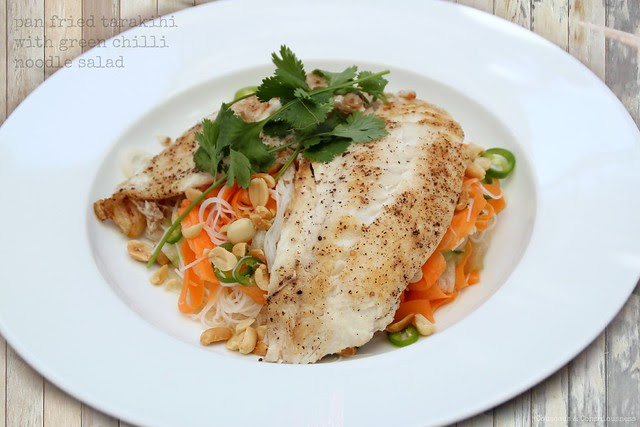 Pan Fried Tarakihi with Green Chilli Noodle Salad 1
