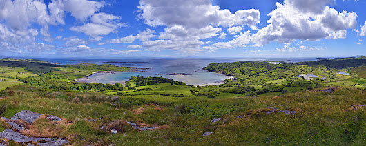 Islay's south coast from Fairy Hill panorama