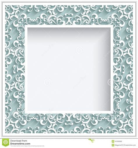 Square Paper Lace Frame Stock Vector   Image: 41030990
