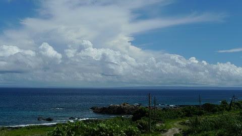 晴れた日の海