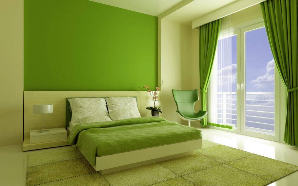 Bedroom interior design: green bedroom – HOUSE INTERIOR