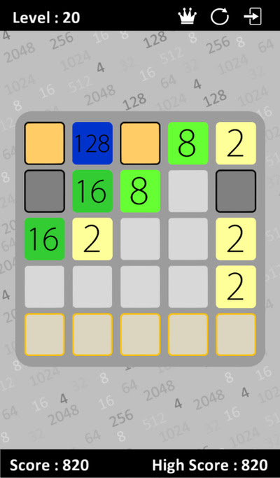 2048 Brainteasers - addicting puzzle game