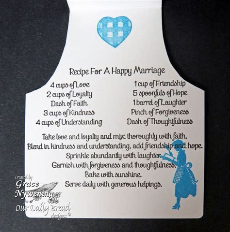 Recipe for a Happy Marriage!   Embellishments & Journaling