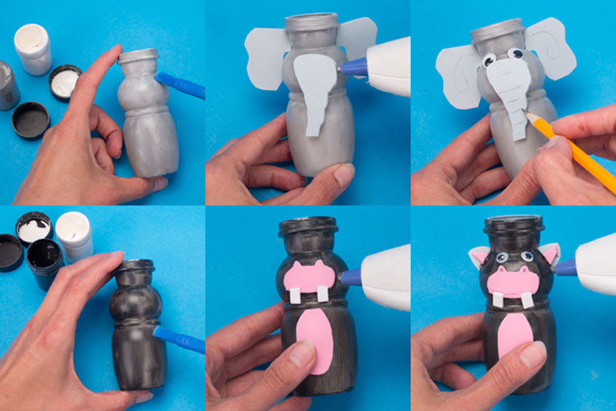 como fazer bichinhos embalagem iogurte reciclagem atividade escola crianca (2)