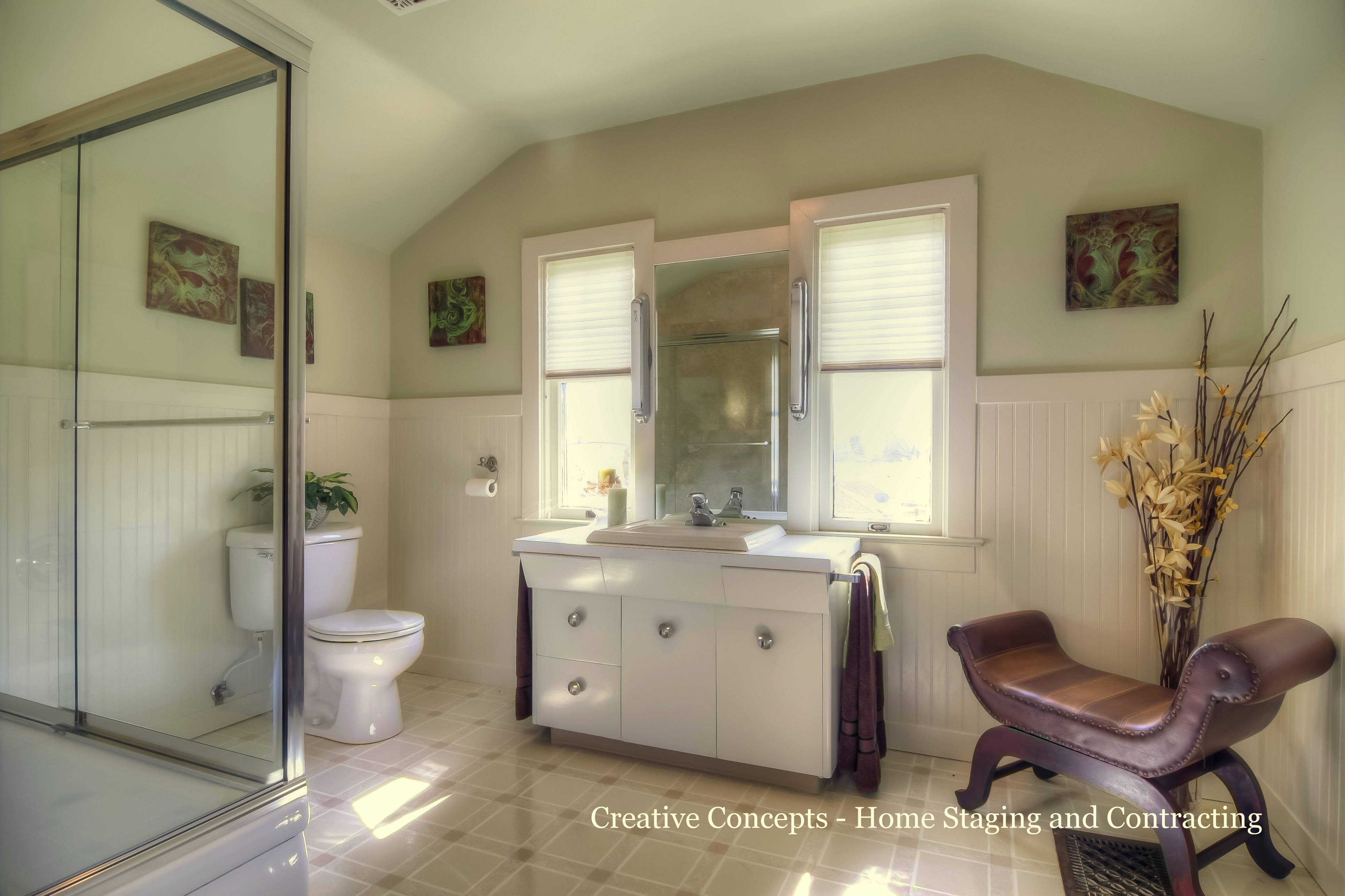 This historic home had a historic looking bathroom that ...
