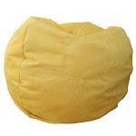 Fun Furnishings 30203 Canary Yellow Micro Suede Small Beanbag