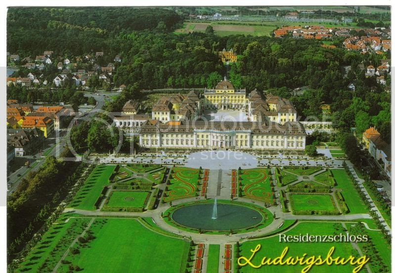 my world of postcards and travels ludwigsburg germany. Black Bedroom Furniture Sets. Home Design Ideas
