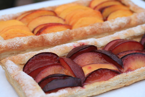 Rustic Nectarine, Peach and Plum Tarts