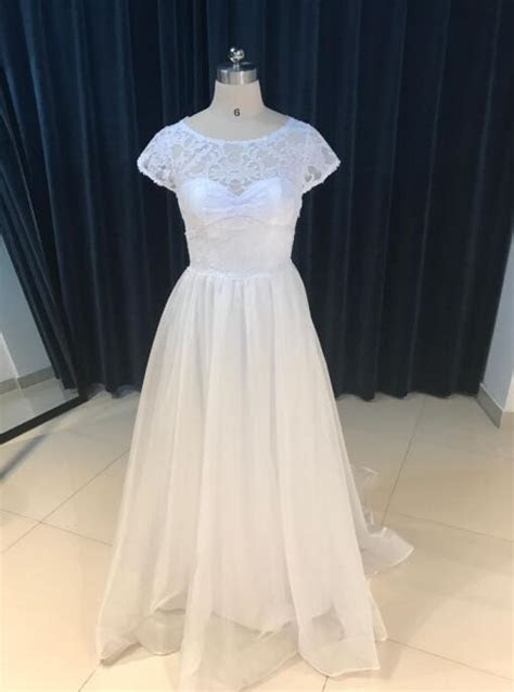 Cap Sleeve Boho Wedding Dress Simple 2017 Crystal Chapel
