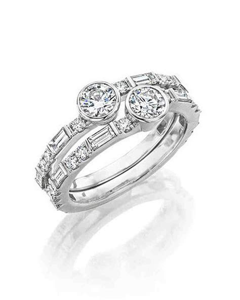 Stacked Engagement Rings You'll Love   Martha Stewart Weddings