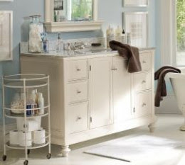 Pottery Barn turned leg vanity console sink