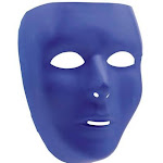 Amscan 397286.22 Full Face Mask Marine Blue - Pack of 12