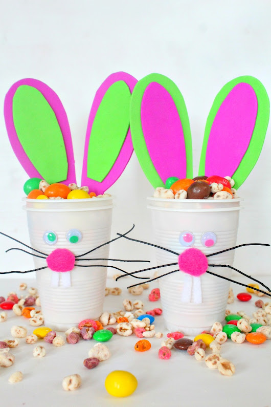 Easter Bunny Cups Tutorial