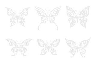 sample - free Butterfly silhouette - in pale grey